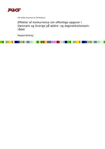 Effekter af konkurrence om offentlige opgaver i Danmark og Sverige ...