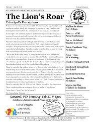 The Lion's Roar - Shelby County Schools