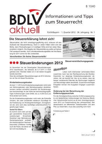 BDLV aktuell 1. Quartal 2012