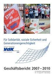 Geschäftsbericht 2007 – 2010 - Der VdK