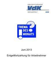 Juni 2013 Entgeltfortzahlung für Arbeitnehmer - Der VdK