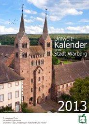 Abfallkalender Hansestadt Warburg 2013; Stand 30-11-12 - Ossendorf