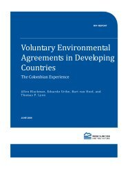 Voluntary Environmental Agreements in Developing Countries: The ...