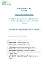 Mapa de Eventos - 05/11/2010 - Confraria Gastronómica do Velhote