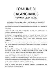 regolamento funghi agosto-2011.pdf - Comune di Calangianus