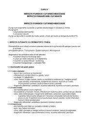 infec ii fungice cutaneo-mucoase infec ii parazitare - Spitalul Clinic ...