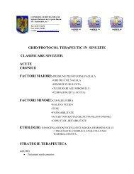 GHID/PROTOCOL TERAPEUTIC IN SINUZITE CLASIFICARE ...