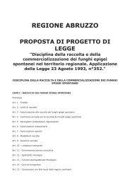 normativa sulla raccolta dei funghi - Associazione micologica Vasto