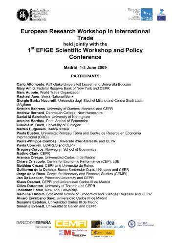 View list of participants PDF