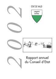 2 0 0 2 Rapport annuel du Conseil d'Etat - Canton de Vaud
