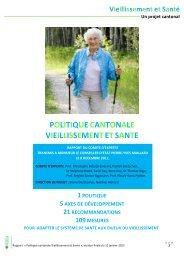 Vieillissement et Santé Un projet cantonal - Canton de Vaud