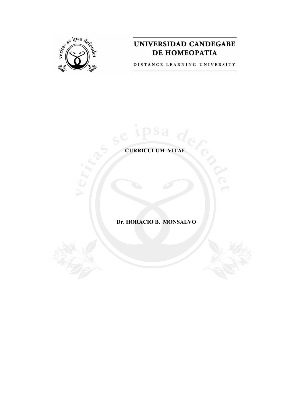 Bonito Muestra Del Curriculum Vitae Del Doctor Homeopático Colección ...