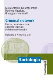 Criminal network - Franco Angeli Editore