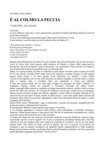 Alex Zanotelli - E' al colmo la feccia - Partito d'Azione Comunista