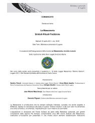 La Massoneria - Sistema bibliotecario ticinese