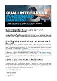 Quali Integratori Funzionano davvero? Quali ... - Ultimate Italia