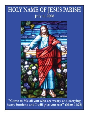 July 6 - Holy Name of Jesus Parish