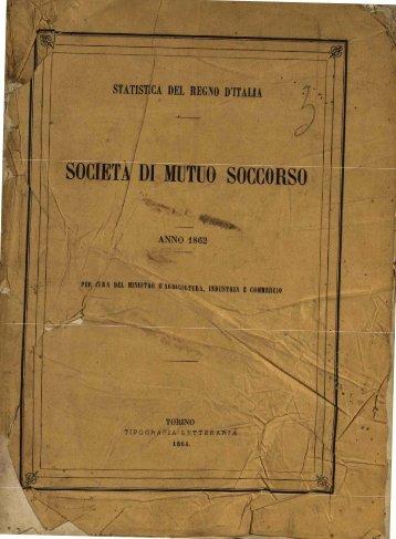 . SOCIET '.' DI MUTUO SOCCORSO - Istat