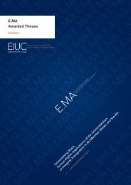 Criminalising Hope. Human Rights Implications of the ... - EIUC