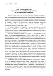 Centri Linguistici Uniersitari - Eurolinguistica-Sud