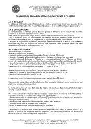 Regolamento - Università degli Studi di Torino