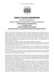 CARLO CACCIA DOMINIONI - Comune di Parabiago