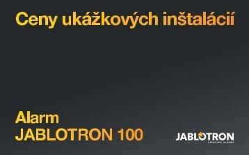 Ceny typových inštalácií (.pdf) - Jablotron