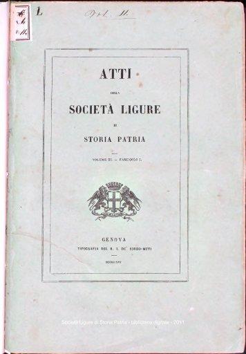 che - Società Ligure di Storia Patria