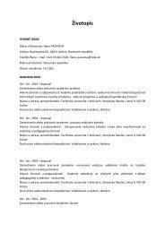 Životopis (Odporúčaný formulár) - TUKE
