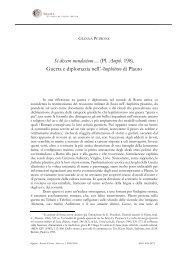 Gianna Petrone, Si dixero mendacium... (Pl. Amph. 198).