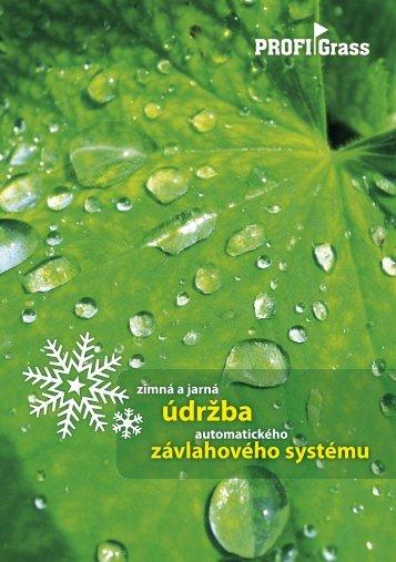 Zimná a jarná údržba závlahového systému - zavlaha-travnik ...
