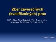 Prezentácia k zberu EZP