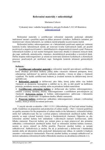 0f8e77c45 Referenčné materiály a certifikované referenčné materiály poskytujú .