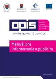 Príloha č. 2 - Manuál pre informovanie a publicitu - OPIS