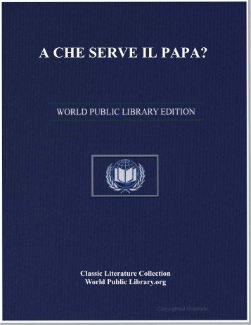 A CHE SERVE IL PAPA? - World eBook Library