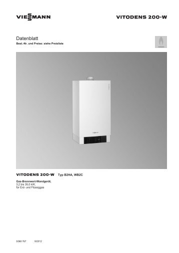 datenblatt vitodens 200 w viessmann. Black Bedroom Furniture Sets. Home Design Ideas