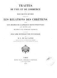 Traités de paix et de commerce et documents divers ... - Berbère