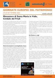 Luoghi FAI-Autostrade per l'Italia in Friuli Venezia Giulia: scarica il .pdf
