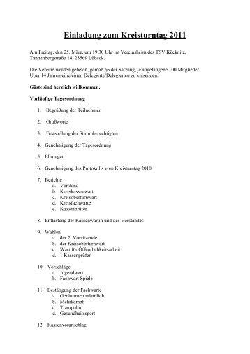 Einladung zum Kreisturntag 2011 - Ktv-luebeck.de