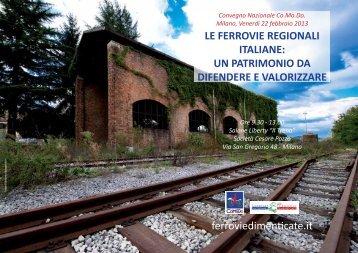 LE FERROVIE REGIONALI ITALIANE: UN PATRIMONIO DA ...