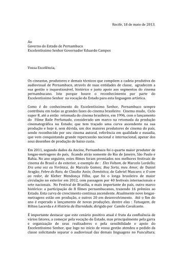 Clique aqui e confira a carta - Folha de Pernambuco