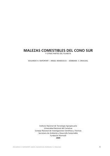 MALEZAS COMESTIBLES DEL CONO SUR - Camino Sostenible