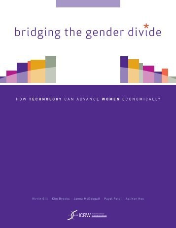 Bridging the Gender Divide: How Technology can Advance ... - ICRW