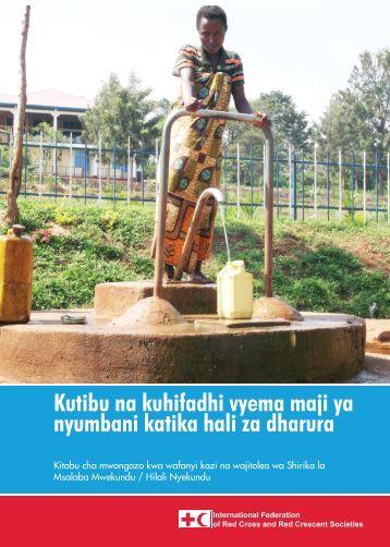 Kutibu na kuhifadhi vyema maji ya nyumbani katika hali za dharura