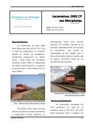 Locomotivas 2600 CP nos Mercadorias - Comboios em Portugal