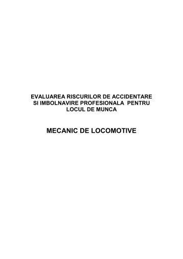 MECANIC DE LOCOMOTIVE - Doctor Finance