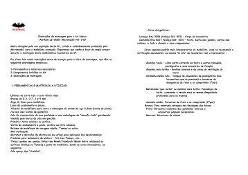 """Instruções de montagem para o kit básico """"Alsthom LE-2600 ..."""