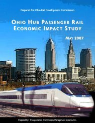 ohio hub passenger rail economic impact study may 2007