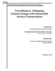 TCRP Web Document - TravelMatters: Mitigating Climate Change ...