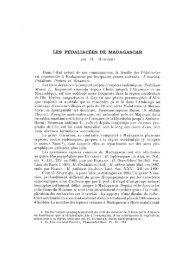 LES PÉDALIACÉES DE MADAGASCAB